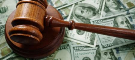 Gavel on child support modification money
