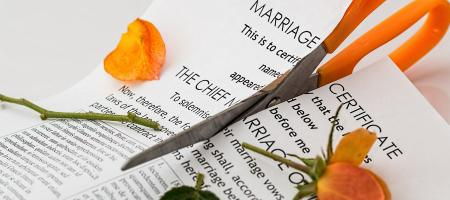 Cutting up marriage certification alimony modification