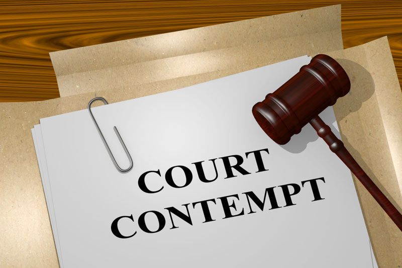 Court contempt papers and file